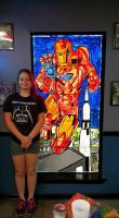 Stained Glass Iron Man (Person for reference) by Happylildeadgirl