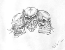 skulls deisgn by ashes48