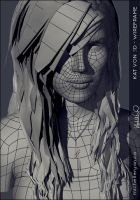 Kat Von 3D - Wireframe by vixelyn