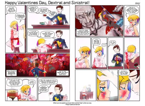 Happy Valentines Day, Dextral and Sinistral! by illeity