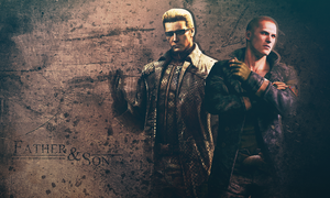 Albert Wesker n Jake Muller wallpaper by VickyxRedfield