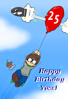 happy birthday Bourgy by Nintendrawer