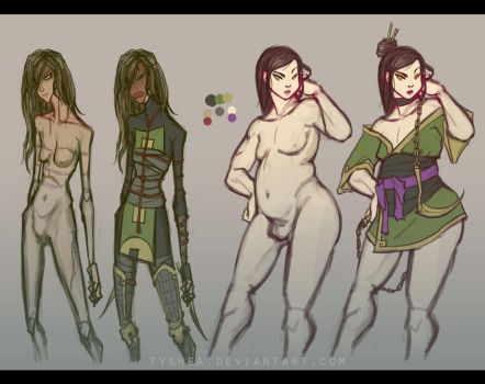 A:CtS Character Study [SHANI and HIU] by Dyemelikeasunset