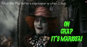 Mad Hatter likes me, right? by muffins-r-us