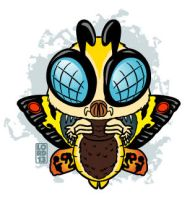 Mothra!!! by lordmesa