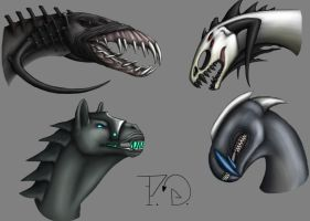 Four Creatures by Areetala