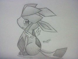 Tiny Winged Glaceon by Bluekiss131