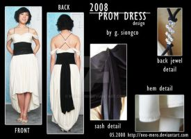 design: creme and black dress by neo-mero