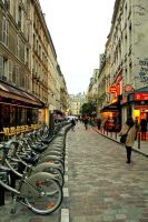 Paris street by Nastasie