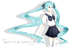Bottle Miku by Rienu