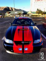 Red on Black Mustang by Swanee3