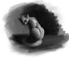 Quick cat sketch by BrookeDibble