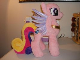 Feathered Wing Princess Cadance Plushie WIP by Drachefrau