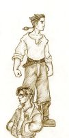 Jim Hawkins sketches by Sjostrand