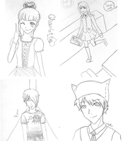 Shin Cafe Sketches by niyoels
