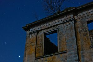 Starry Night from the ruins by BusterBrownBB