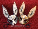 Leather Clockwork Hare Masks by merimask