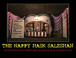 Zelda the Happy Mask Salesman demotivational by Dbgtinfinite