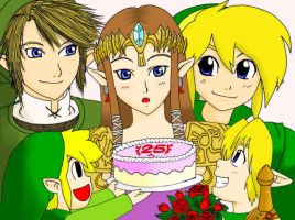 Happy Birthday, Zelda (colored) by EasterEgg23