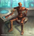 Star Wars: Admin Droid by jasonjuta