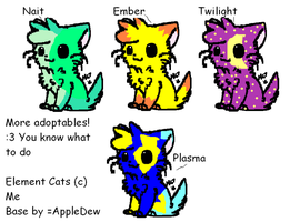 More adoptables - Element Cats (CLOSED) by IEMEl