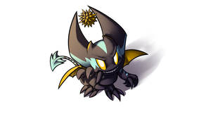Zoomer the Dark Chao by Deroko