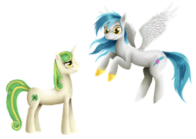 Lightfast and Fourleaf by BlondieGurl1129