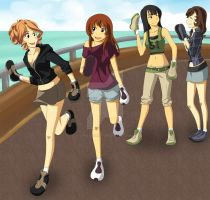 CM: 4 Girls Out And About by Apollyon2011