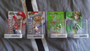 The Latest Four amiibo Figures by shnoogums5060