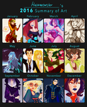2016 art summary by hazumonster