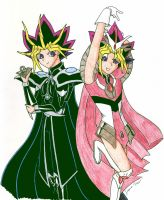 Yami and Yugi Cosplay by murasaki-rose