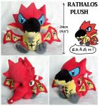 Chibi Rathalos plush by scilk