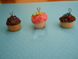 Flowered Cupcakes by CloudLover7
