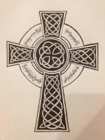 Celtic Cross with One Ring Script by Inspirational-img