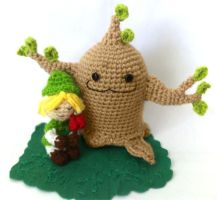 Link and the Deku Tree Sprout by AmiAmaLilium