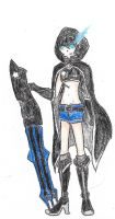 Black Rock Shooter Custom Design by CDQ2691