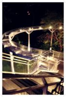 Night stairs by Olivares