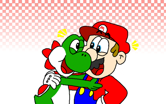 Yoshi and Mario - Old Buddies by AngryBirdsStuff