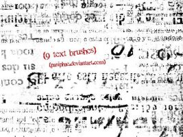text brushes set by pasiphae