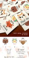 Sassy Animal Stickers FOR SALE! by Meirii
