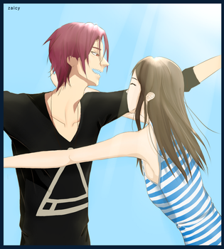Rin Matsuoka and Savannah Smith [Commission # 5] by Zaicy