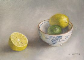 Citrus Fruit and Bowl by birchley