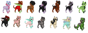 new adoptables half price by naty15