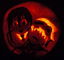 Soul and Maka Pumpkin by Onlera