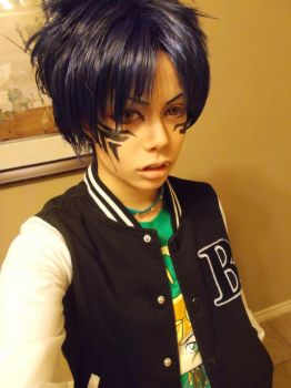 Dramatical Murder- Ren Cosplay Make Up Trial by XD-eviltoast-XD