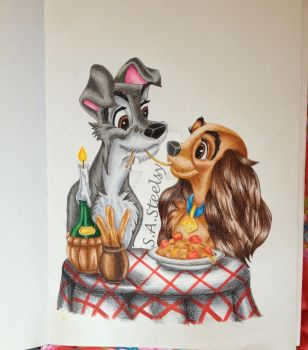 Lady and the Tramp Spaghetti Kiss by SASteelsy