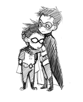 Tiny Robin-cuddles by ceesoo