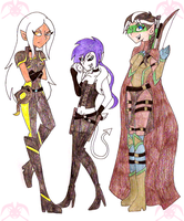 DnD: My Three Chars by KPenDragon