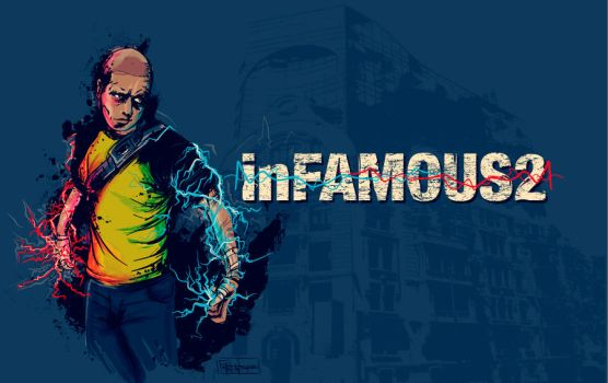 inFAMOUS fan made illustration by folkensioner