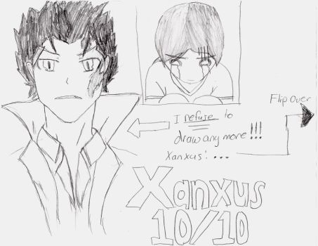 Xanxus birthday drawing! (Fail???) by digibrowser1